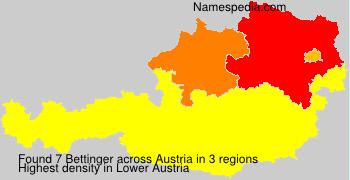 Surname Bettinger in Austria