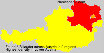 Familiennamen Billaudet - Austria