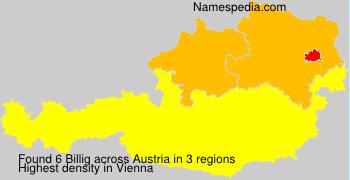 Surname Billig in Austria