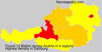 Surname Bislimi in Austria