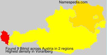 Surname Bitriol in Austria