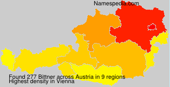 Surname Bittner in Austria