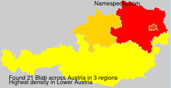 Surname Blab in Austria