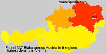 Surname Blaha in Austria