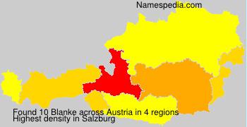 Familiennamen Blanke - Austria