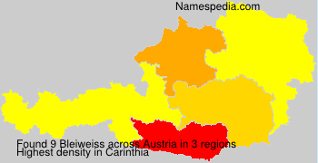 Familiennamen Bleiweiss - Austria