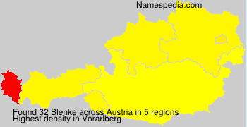 Surname Blenke in Austria