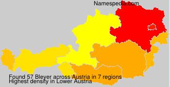 Surname Bleyer in Austria