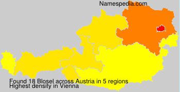 Surname Blosel in Austria