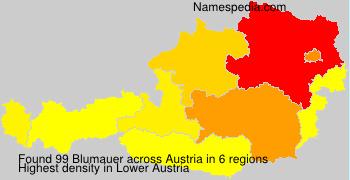 Surname Blumauer in Austria