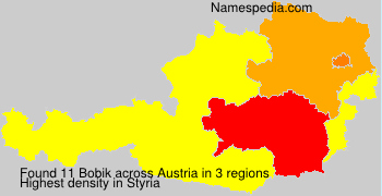 Surname Bobik in Austria