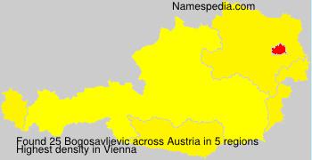 Surname Bogosavljevic in Austria