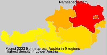 Surname Bohm in Austria