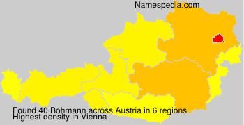 Surname Bohmann in Austria