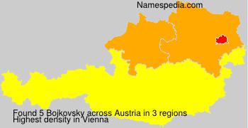 Surname Bojkovsky in Austria