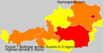 Familiennamen Bollinger - Austria