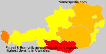 Surname Borovnik in Austria