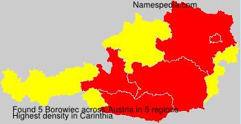 Surname Borowiec in Austria