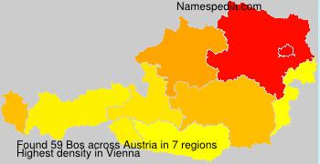 Surname Bos in Austria