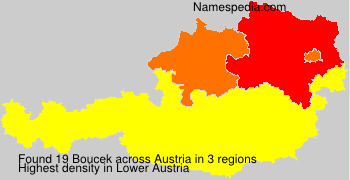 Surname Boucek in Austria
