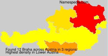 Surname Braha in Austria