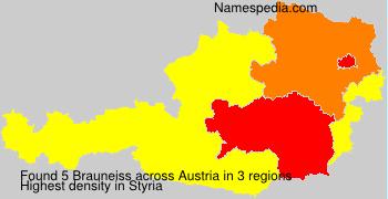 Surname Brauneiss in Austria
