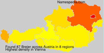 Familiennamen Breier - Austria