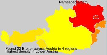 Familiennamen Breiter - Austria