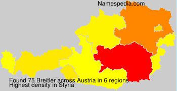 Surname Breitler in Austria