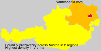 Surname Brezovszky in Austria