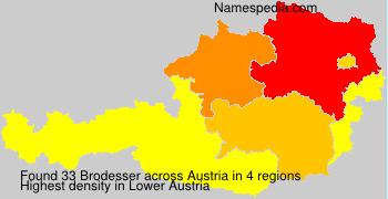 Familiennamen Brodesser - Austria
