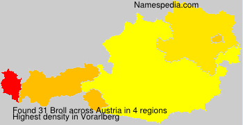 Surname Broll in Austria