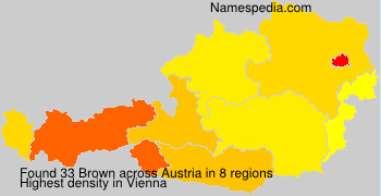 Surname Brown in Austria