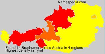 Surname Brunhumer in Austria