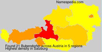 Surname Bubendorfer in Austria