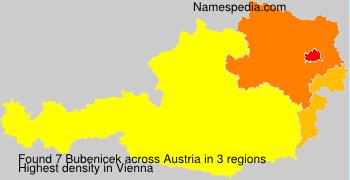 Familiennamen Bubenicek - Austria