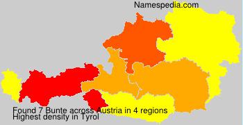 Familiennamen Bunte - Austria