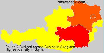 Familiennamen Burkard - Austria