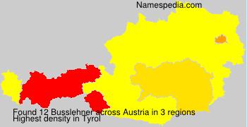 Surname Busslehner in Austria