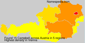 Surname Campbell in Austria