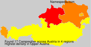 Familiennamen Campregher - Austria