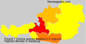 Surname Canins in Austria