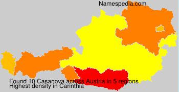 Surname Casanova in Austria