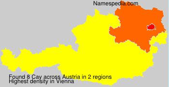 Surname Cay in Austria