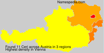 Surname Ceri in Austria