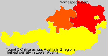 Surname Chirita in Austria