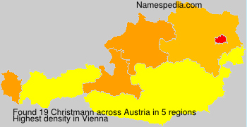 Surname Christmann in Austria