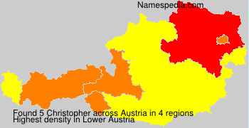 Surname Christopher in Austria