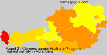 Surname Clemens in Austria