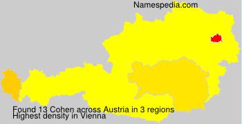Familiennamen Cohen - Austria